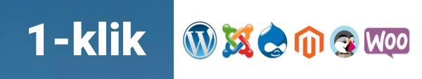 Wordpress, Joomla, Drupal mv. kan let installeres via administrations interface med et par enkelte klik